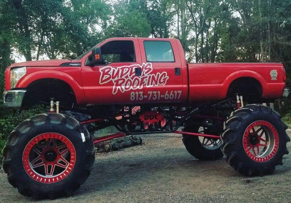 Buddy's Roofing 4x4 Truck