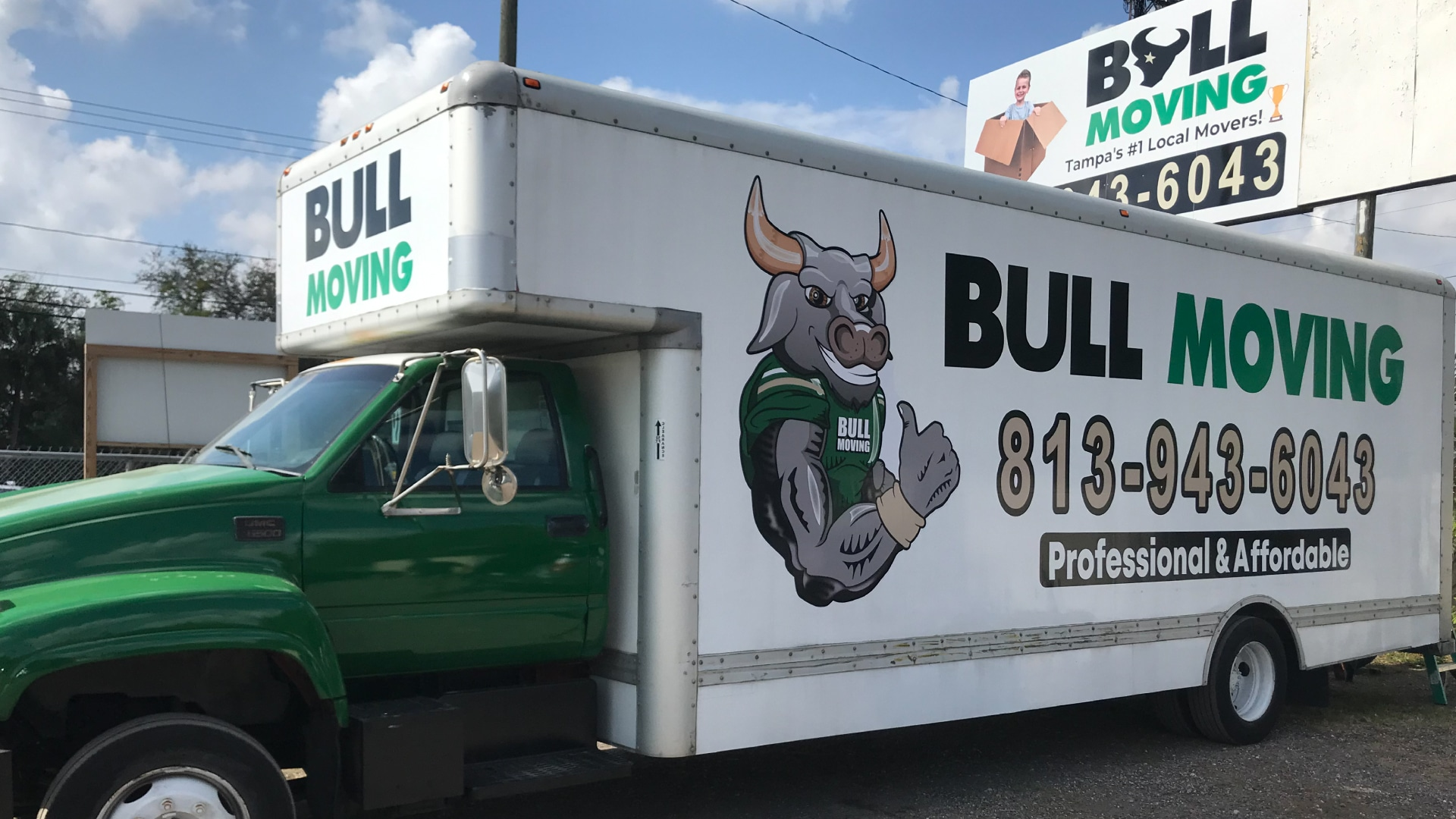 Bull Moving Box Truck