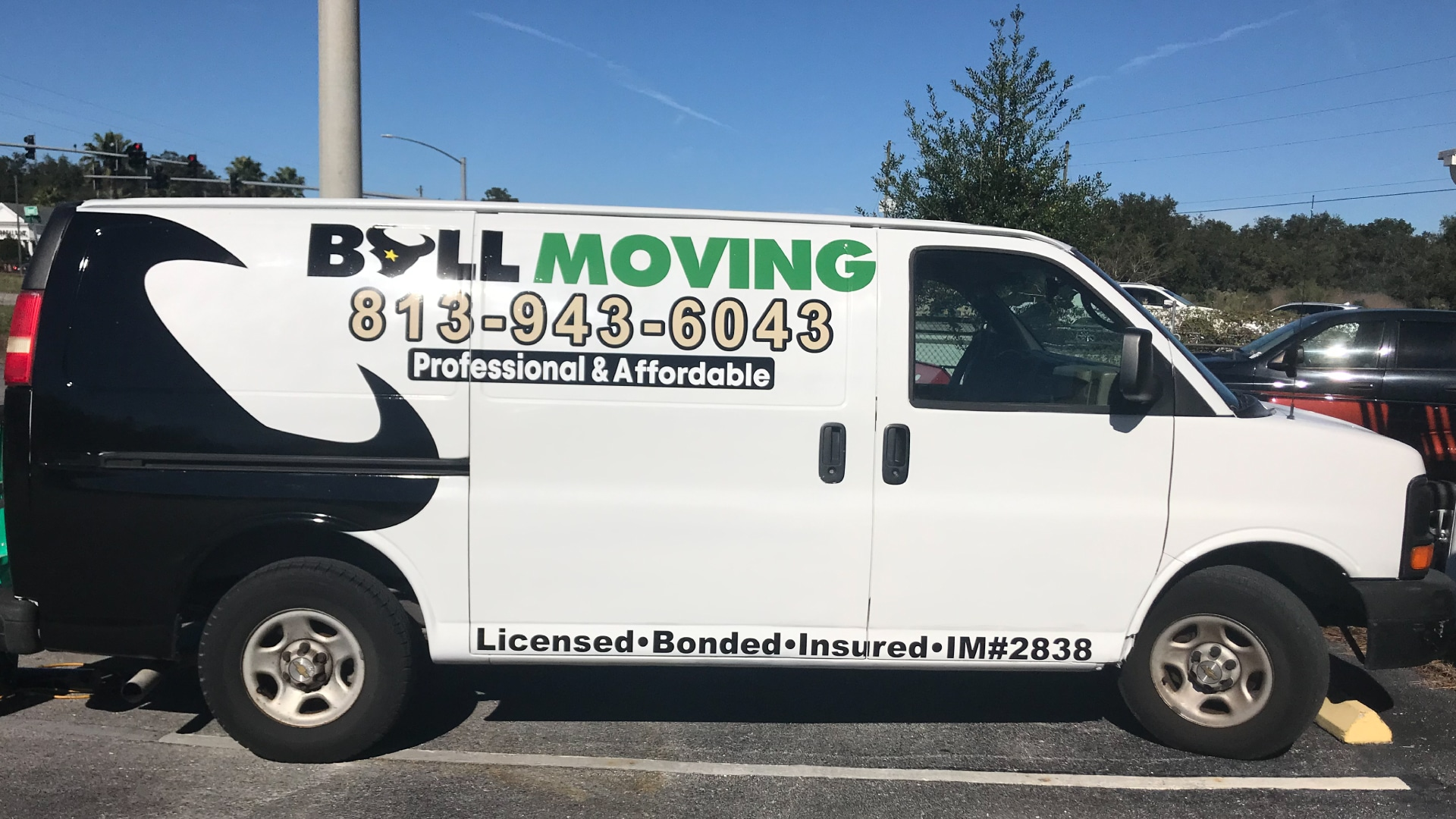 Bull Moving Van