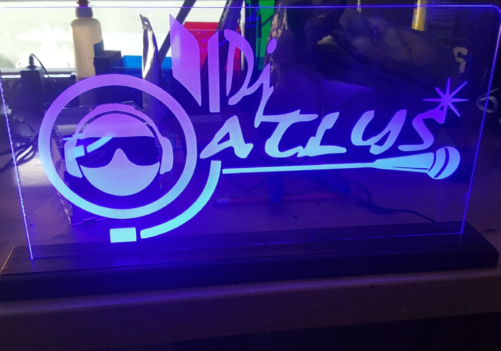 DJ Sign Etched