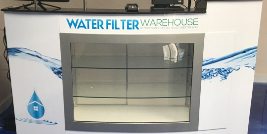 Water Filter Warehouse Retail Counter
