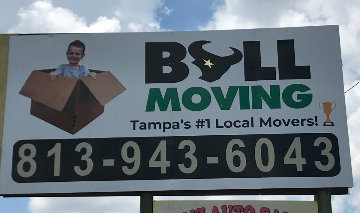 Bull Moving Billboard Signage