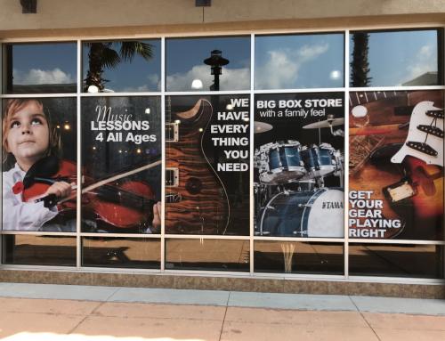 Window Signage Music Store