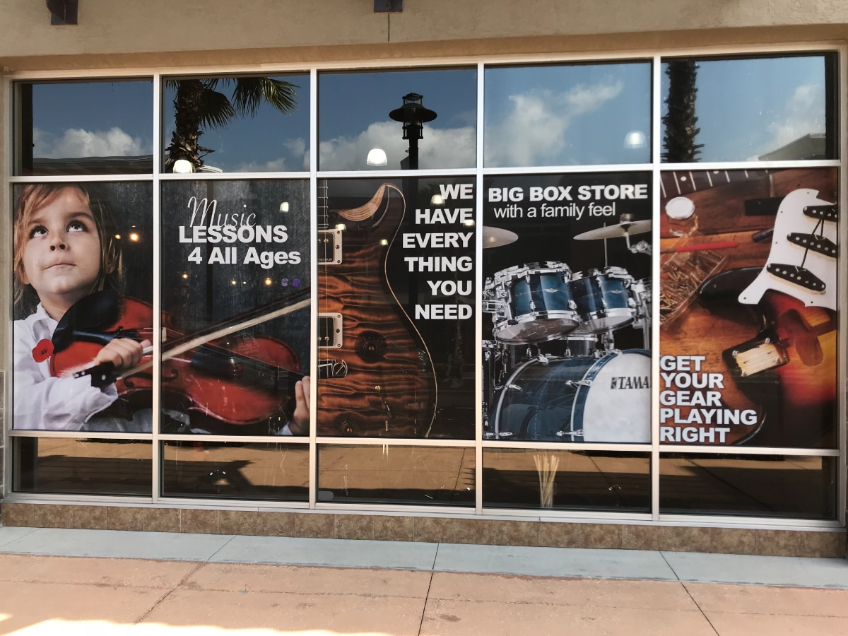Window Signage Music Store